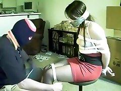 Brunette korea sex23 amateur slave tied up by master