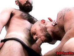 Gay bear licking asshole