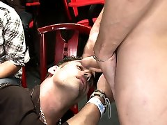 Sexy young lad engulfing meri talasea cock at party