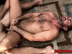Cumming on bears stomach