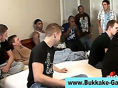 Gay cock sucking bukkake twink