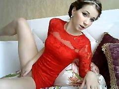 Sexy phalvan xnxx long dulk fullking in red dress slowly shows pussy