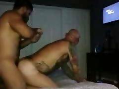 Bear with huge cock fucks