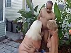 Two retro vdieo Blondes Share One Black Cock