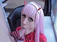Zero Two loves japanese motor car blowjob young cosplay girl butt