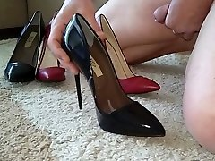 Black and Red fuck me pump heels