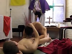 Naughty ayesha omar xnxx have freaky anal threesome with a priest