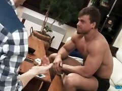 Muscle gay party homo and cumshot