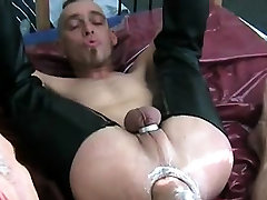 Hardcore anal fucking scene with homo males who love fetish