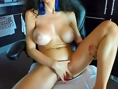 Horny babe big massive tits boobs nipples fake tits