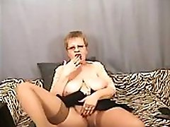 Hot mom fucks with her toyboy granny masturbate on cam