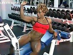 Sexy satsuki ejiri Solo Workout and Flexing