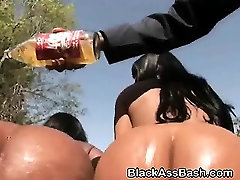 Big Booty Black Ghetto Sluts Share Facial In Threesome