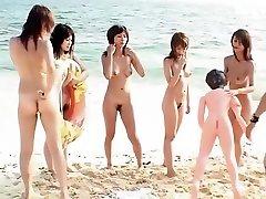 Incredible Japanese model in Crazy Beach, Outdoor JAV video