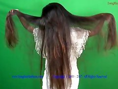 Playing Long Silky Hair indian deep dick babe LHS