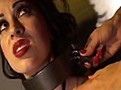 Latex Dom RubberDoll Uses Medical Saw Gag On Mina Meow!