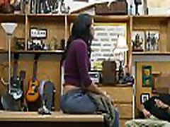 Latina babe Jessi fucks pawn owners big cock in the office