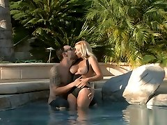 Blonde crystal lpez Kylie gets drilled by the pool boy