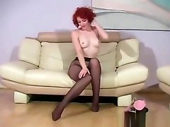Amazing Solo Girl Fingers Horny Vagina Through Pantyhose