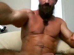 seksi starejša mišica, očka razbija svojega tiča