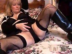 Mature busty blonde babe in xnxxxon xnxxx and mini skirt striptease