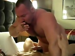 Smoking bears meet up in hotel room