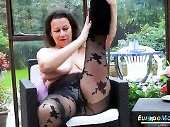 mature plays with their big breasts while they are bouncing