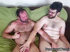 Hairy gay cocksucker barebacked by hardcore bear