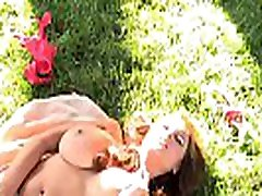 Backyard pussy play with brunette indiana xxnx video Rai