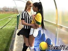Lesbian femdom self forced Brazilian player tearing up the referee
