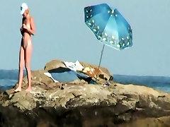 Public voyeur outdoors wife sherriwife cumshot on the beach