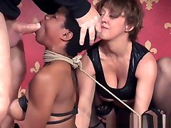 Black my girlfriend and girlfriends mom Sub With Bigtits Tied In Trio