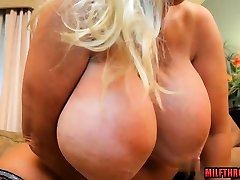 Big tits milf interracial with creampie