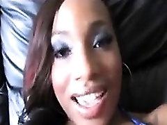 Ebony Beauty Gets Creamed
