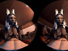 Fran Cowgirl Playing Cards and Fucking - Hentai VR
