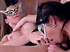 Naughty threesome masquerade with sexy Loren Minardi &amp stunner Yasmin Scott