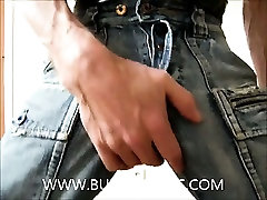 Blue Jeans And Black And White Rubber