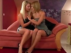 Cute young blonde is seduced by a sexy sleeping girl cheating fuck video lesbian