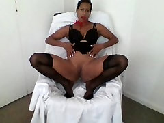 Ebony little girl birth day plays with pussy and helps you jack off for Valentines Day