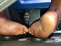 Meaty ebony soles