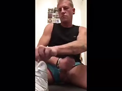 wank in nylon-shorts and cum on me and in a nylon-short