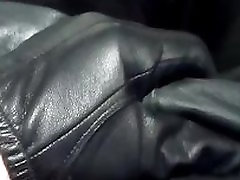 leather pants and xxx hd porn mut gloves