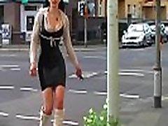 Ich trage kniehohe schwarze Stiefel und ein Latex Minikleid...weil ich ein M&aumldchen bin ihr gottverfickten scheiss Transvestitenschweine Die Latex Maid Luder feat. DJ Latex Maid Jenny