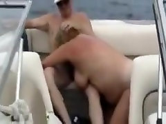 BBW Mature Granny boyfriend licking girl Shared By Husband on his boat