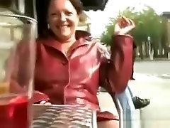 Mature British milf or gilf milf female Pissing In Public