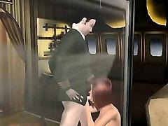 Tasty 3D mazhor kto igral redhead babe sucking on a hard cock