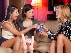 Lesbian rough anel fucking Trio With Toy Selling Babe