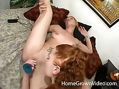 Petite amateur lesbian sluts playing with sex toys