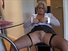 Busty boob viedio blonde secretary in fishnet mature sleep thief and tight skirt