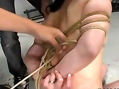 Hot Asian babe tied up